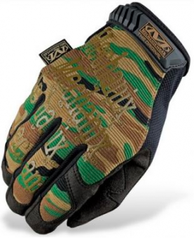 Перчатки Mechanix Original-CAMO WOODLAND, размер XL (США)